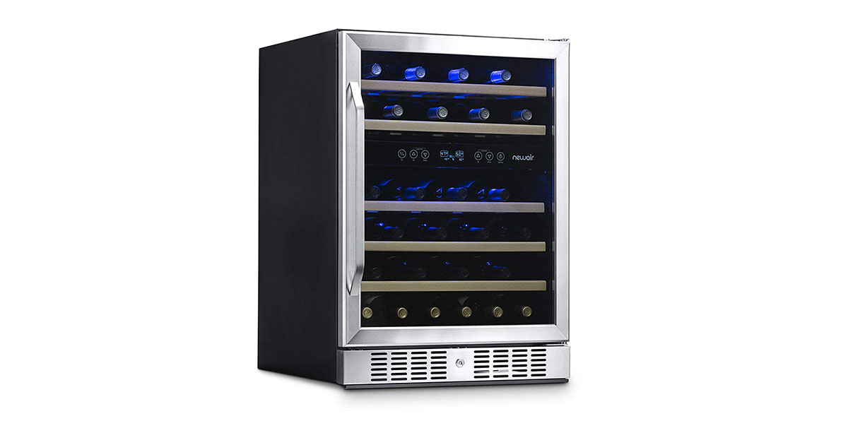 NewAir AWR460DB Dual Zone 46-Bottle Built-In Wine Cooler image