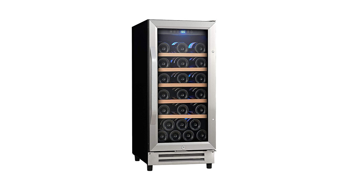 Ausranvik AVR1532SS 32-Bottle Built-in Wine Cooler image