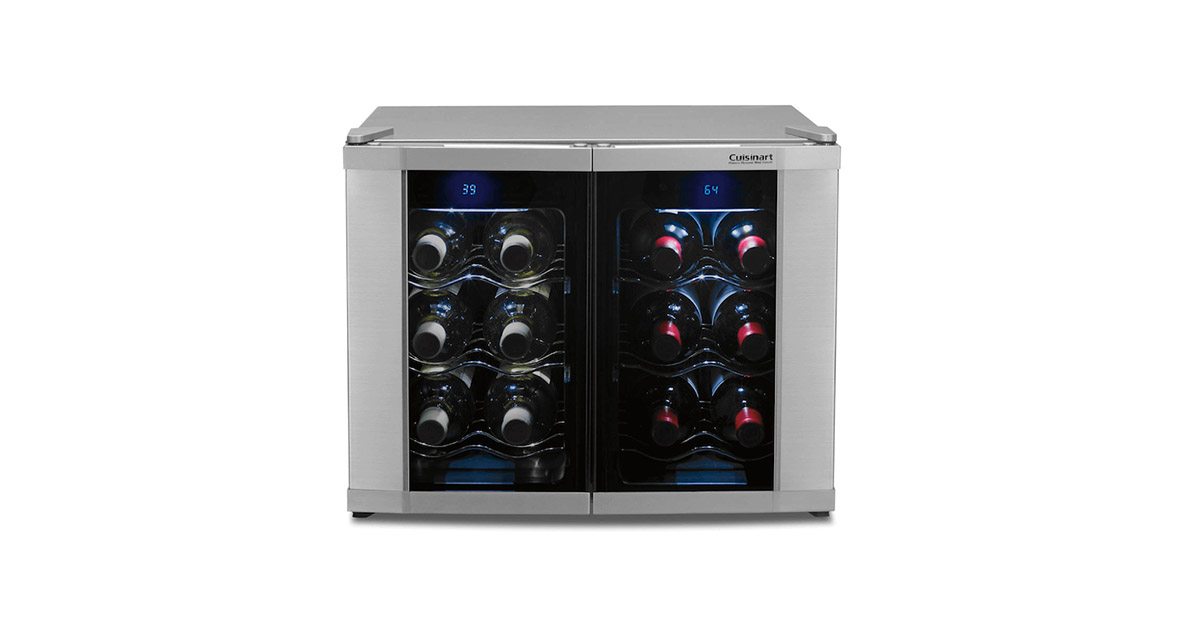 Cuisinart CWC-1200DZ 12-Bottle Dual Zone Wine Cellar image