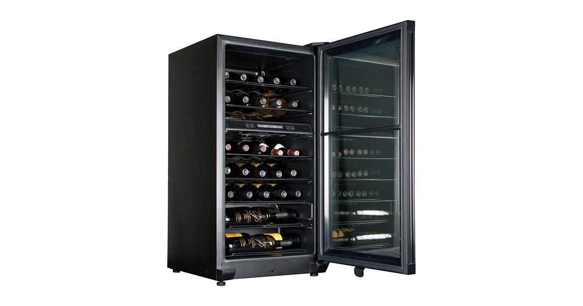 Haier HVFE040BBB 40-Bottle Dual-Zone Wine Cooler image