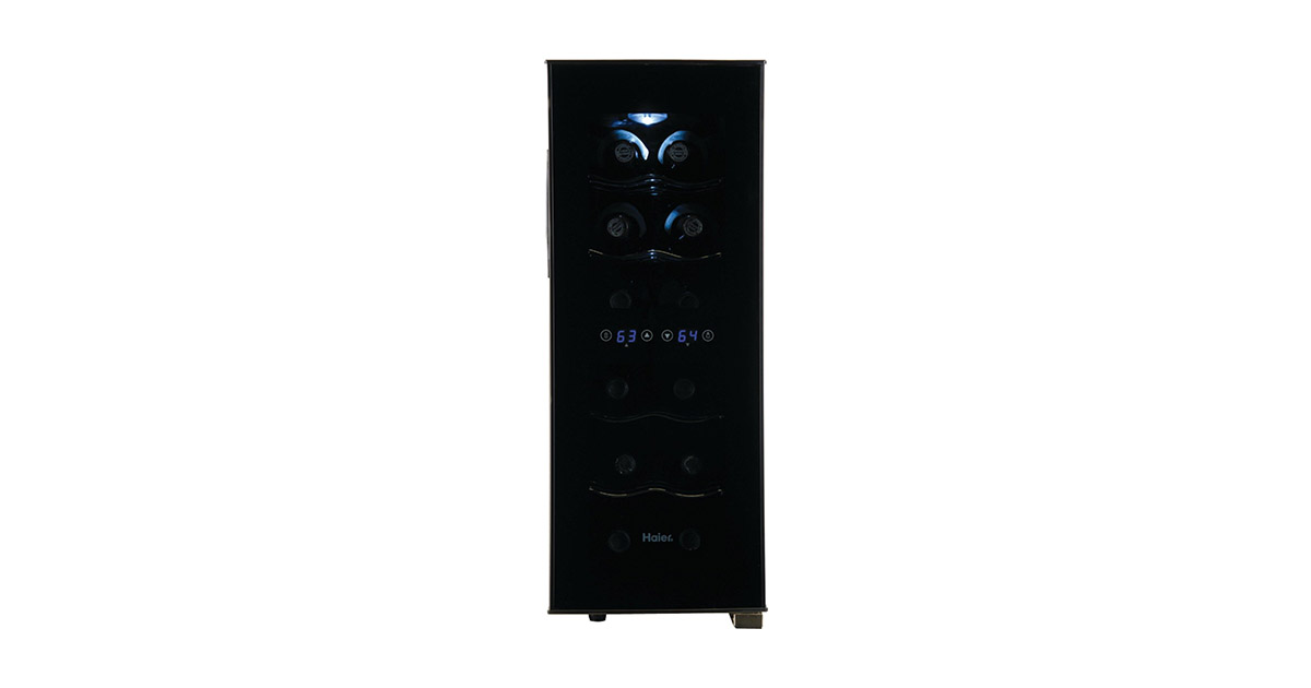 Haier HVTEC12DABS 12-Bottle Dual Zone Wine Cooler image