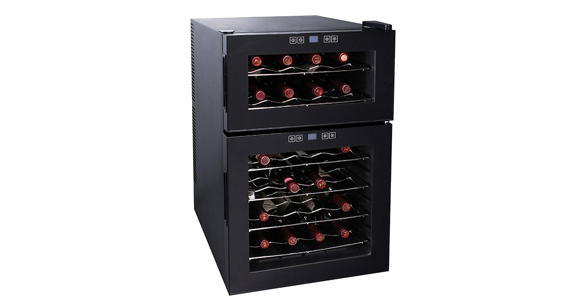 Igloo FRW289 24 Bottle Dual Temperature Zone Wine Cooler image