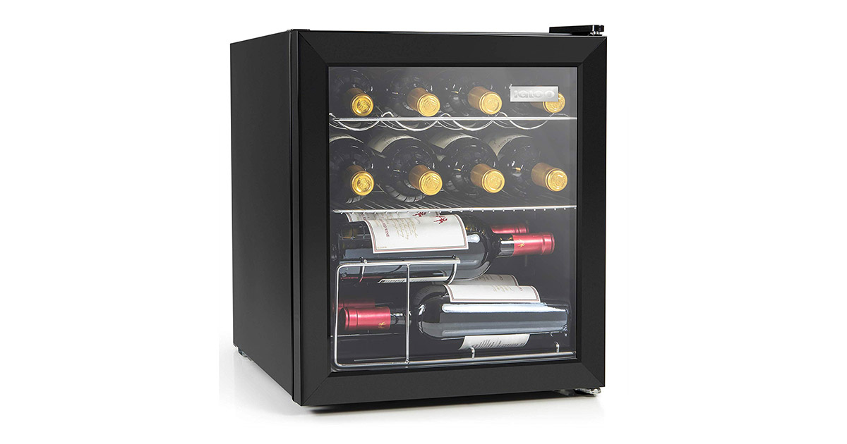 Igloo IBC16BK 15-Wine Bottle or 60 Can Wine Cooler image