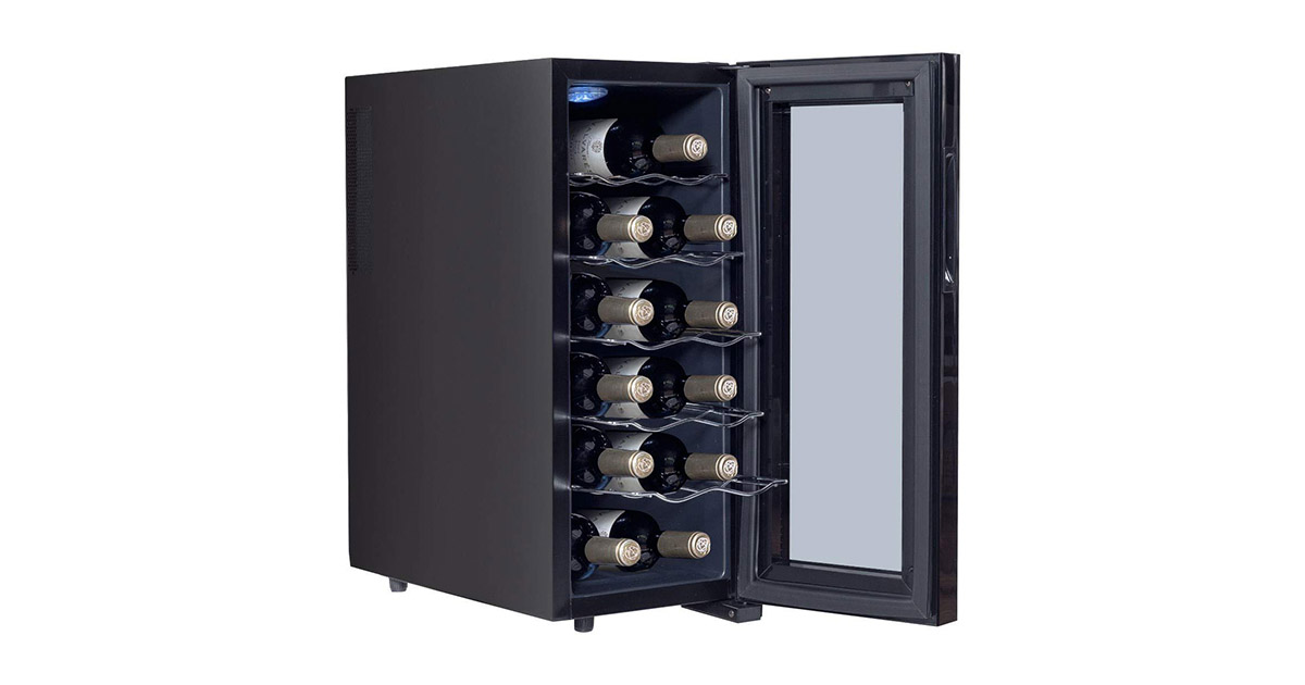 LHONE WA757759 12-Bottle Mini Wine Cooler image