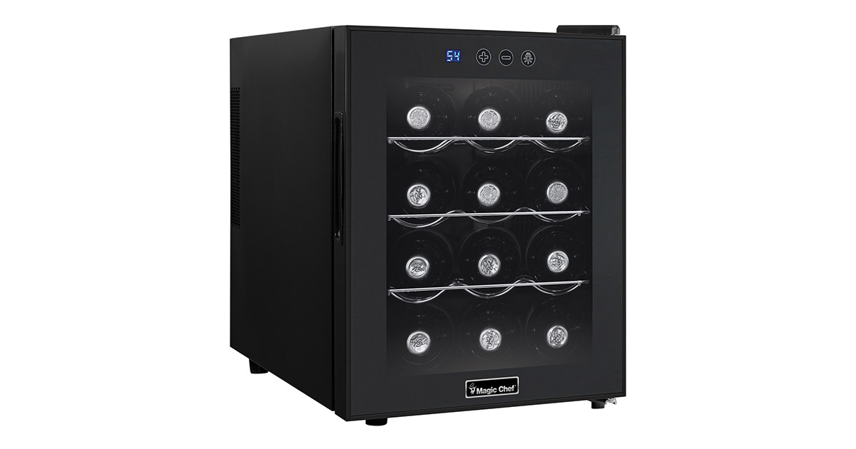 Magic Chef MCWC12B 12-Bottle Single Zone Wine Cooler image
