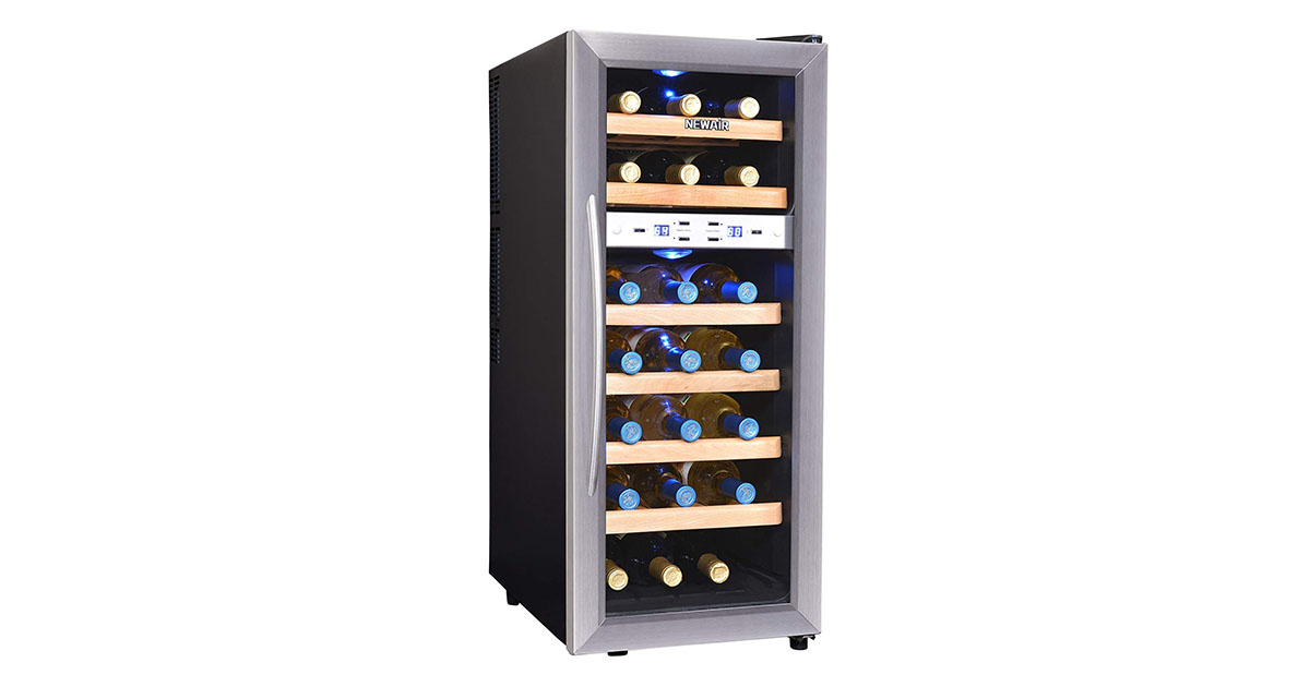 NewAir AW211ED Streamline 21-Bottle Dual Zone Thermo-electric Wine Cooler image