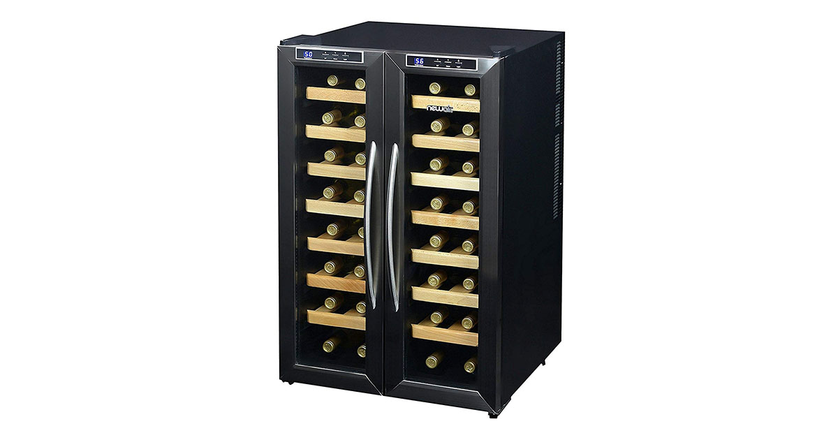NewAir AW321ED 32-Bottle Dual Zone Thermo-electric Wine Cooler image