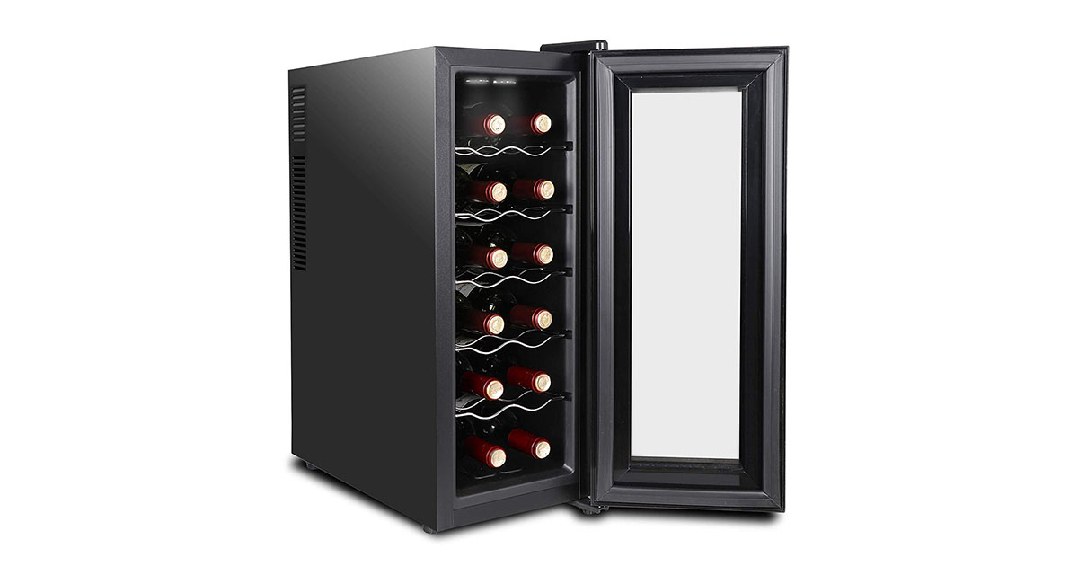 SUPER DEAL SD1025 12 Bottle Thermoelectric Wine Cooler image