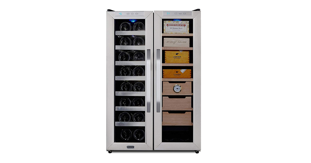 Whynter CWC351DD Freestanding Wine Center Cigar Cooler Humidor image