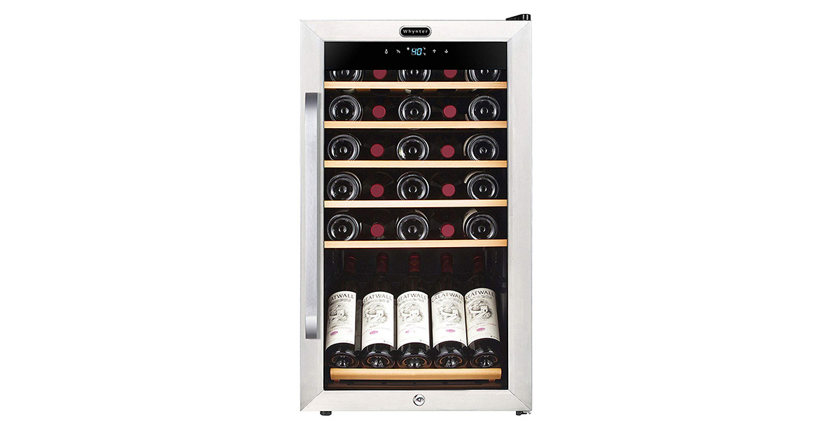 Whynter FWC341TS 34-Bottle Freestanding Wine Refrigerator image