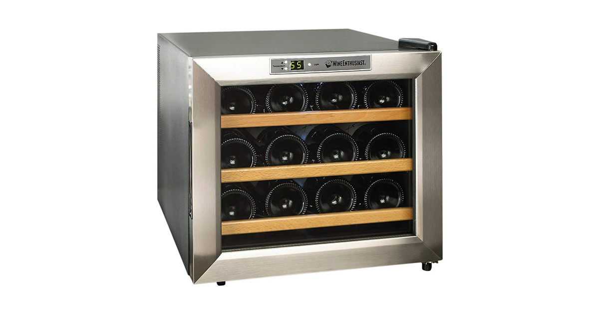 Wine Enthusiast 2720213W 12-Bottle Wine Cooler image