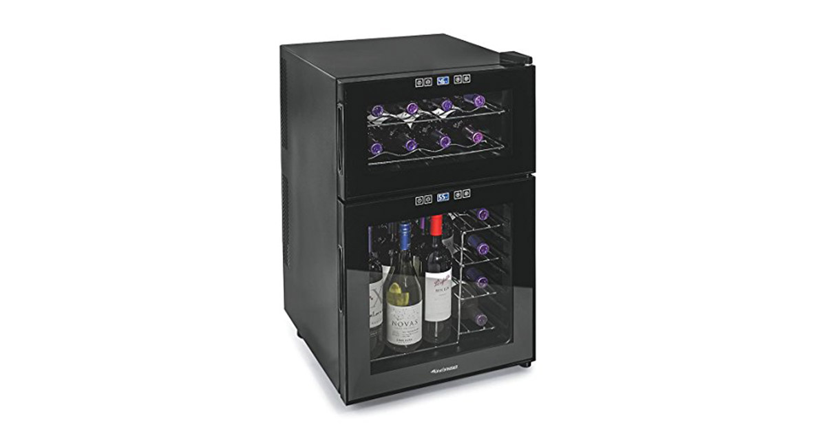 Wine Enthusiast 272 03 24 05 Silent 24 Bottle Dual Zone Touchscreen Wine Cooler image