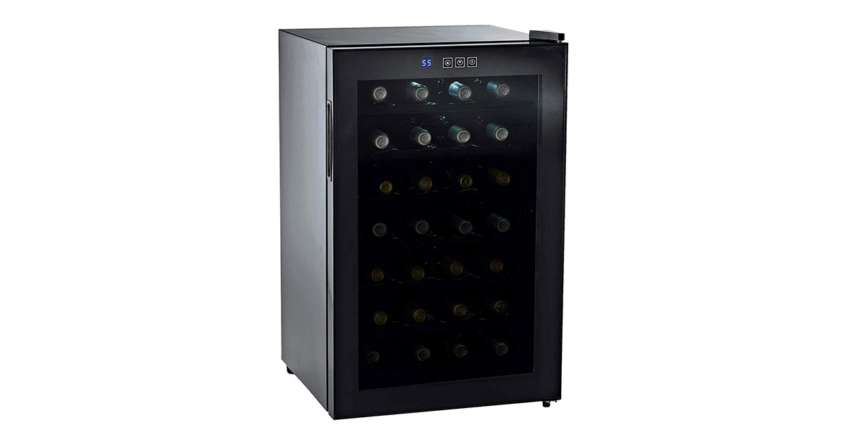 Wine Enthusiast 272 03 28 Silent 28 Bottle Touchscreen Wine Refrigerator image