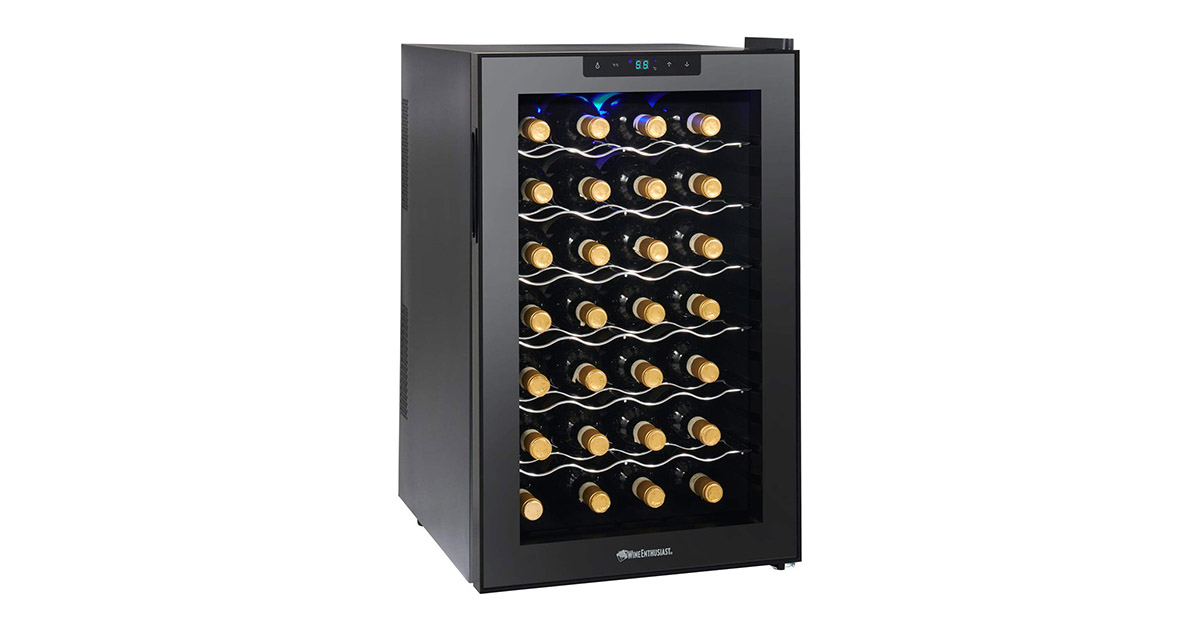 Wine Enthusiast 272 03 29 Silent 28 Bottle Wine Refrigerator image