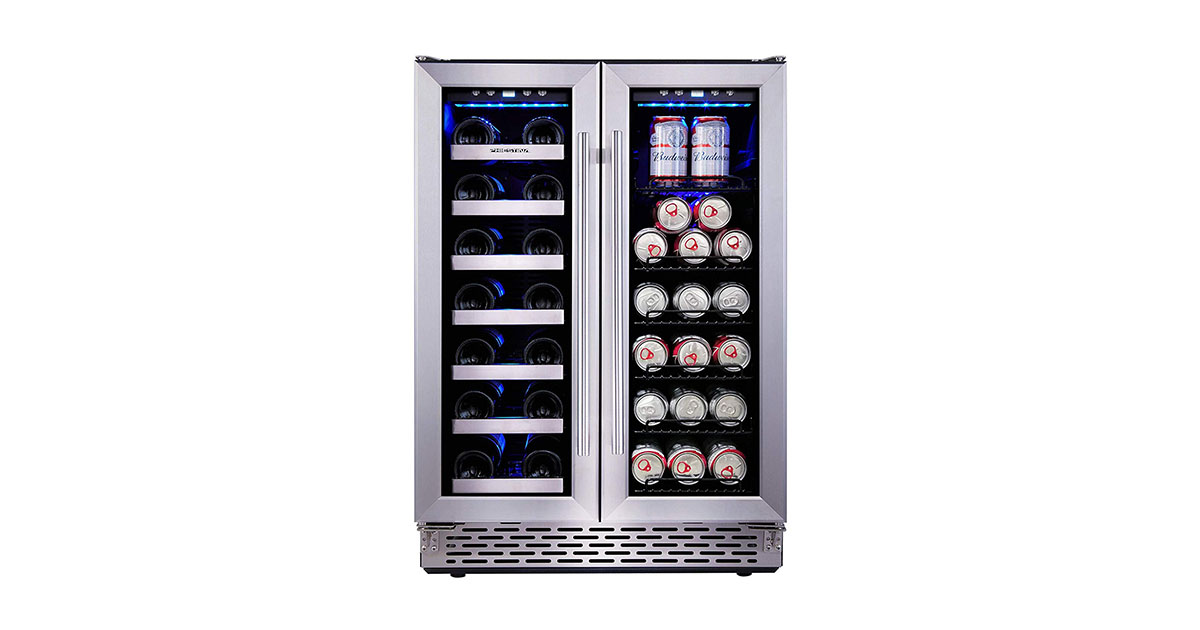Phiestina PH150BCW2L 24-Inch Built-In Dual Zone Wine and Beverage Cooler image