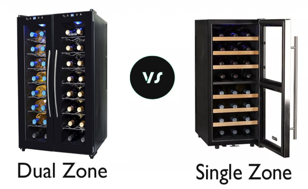Single Zone vs Dual Zone Wine Cooler Image