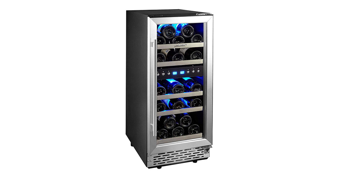 Phiestina 29 Bottle Wine Cooler 15 Inch Dual Zone Review 2020