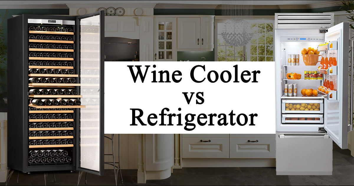 Wine Cooler vs Refrigerator image