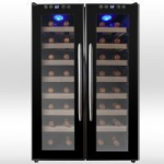 AKDY 32 Bottle Dual Zone Wine Cooler – Now store Red & White Wines at different Temperatures!