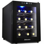 Kalamera 12 Bottle Thermoelectric Single Zone Wine Cooler – Comes with removable Shelves!