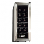 Koldfront TWR121SS 12 Bottle Slim Wine Cooler – Takes Vertical Space and leaves you Floor Space!