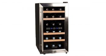 Koldfront TWR187ESS 18 Bottle Free Standing Dual Zone Wine Cooler image