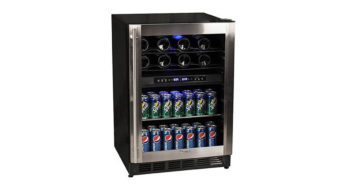 Magic Chef MCWBC77DZC 44 Bottle Stainless Dual Zone Wine   Beverage Cooler image