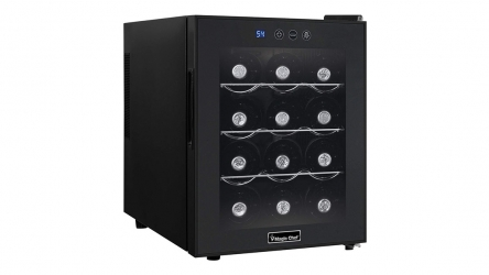 Magic Chef  MCWC12B 12 Bottle Wine Cooler – Works quietly & gives you peace of mind