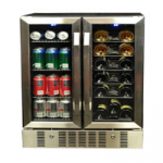 NewAir AWB-360DB Built-In Dual Zone Wine Cooler | Stores upto 60 Cans including 18 Bottles