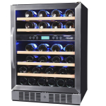 NewAir AWR-460DB 46 Bottle Built In Dual Zone Wine Chiller – Monitor easily with its Digital Display