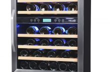 NewAir AWR-460DB 46 Bottle Built In Dual Zone Wine Chiller Review 2019 | Best Compact Wine Cooler