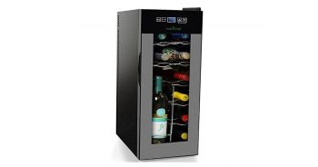 NutriChef PKTEWC120 Nutrichef 12 Bottle Thermoelectric Wine Cooler Refrigerator image